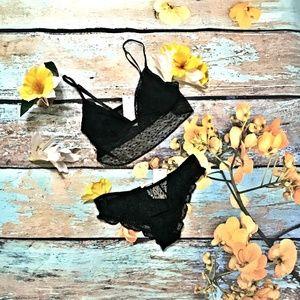 Eberjey Intimates & Sleepwear - Eberjey Greta Longline Bralet & Bikini Set Black